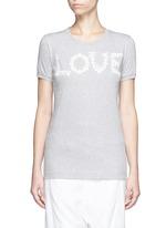 'Love' lace slogan jersey T-shirt