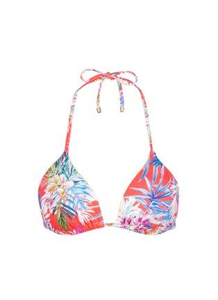 Vitamin A-'Gia' tropical leaf print triangle bikini top