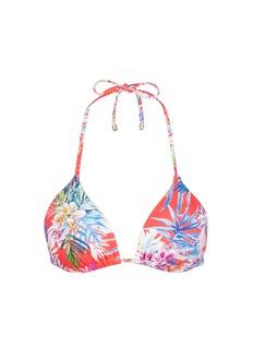 Vitamin A'Gia' tropical leaf print triangle bikini top