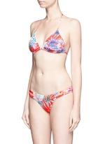 'Gia' tropical leaf print triangle bikini top
