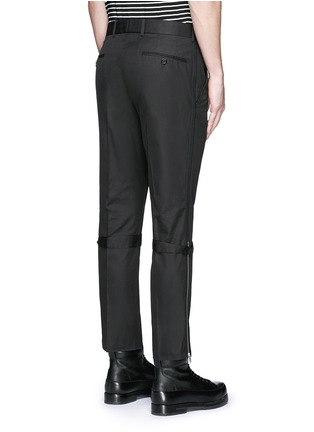Back View - Click To Enlarge - Alexander McQueen - Harness cotton twill cropped pants