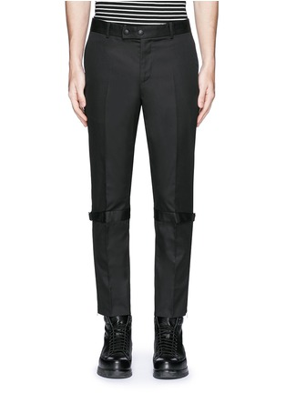 Main View - Click To Enlarge - Alexander McQueen - Harness cotton twill cropped pants