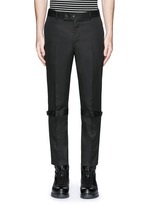 Harness cotton twill cropped pants