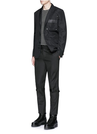 Figure View - Click To Enlarge - Alexander McQueen - Harness cotton twill cropped pants