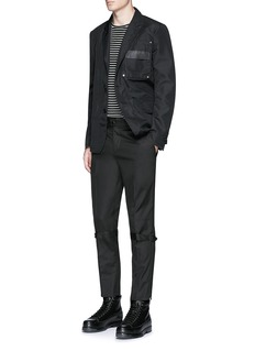 Alexander McQueen Harness cotton twill cropped pants