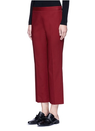 Front View - Click To Enlarge - The Row - 'Seloc' cotton satin cropped pants