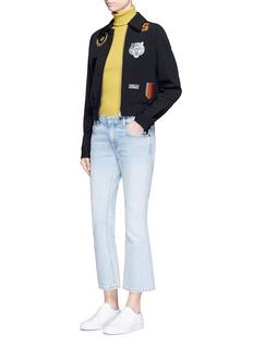 Stella McCartneyVarsity badge embroidered wool jacket