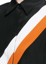 'Odette' stripe silk crepe shirt