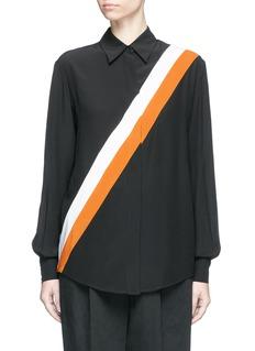 Stella McCartney'Odette' stripe silk crepe shirt
