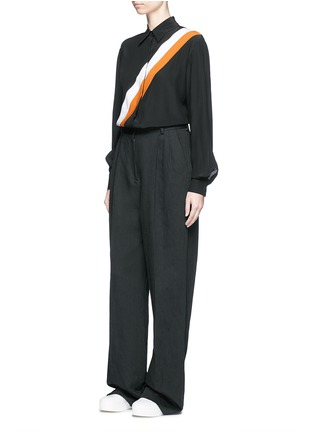 Figure View - Click To Enlarge - Stella McCartney - 'Odette' stripe silk crepe shirt