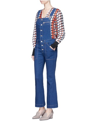 Figure View - Click To Enlarge - Stella McCartney - Organic cotton button dungarees