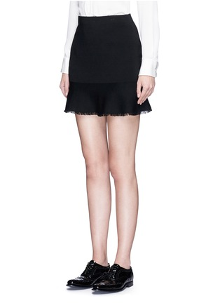 Front View - Click To Enlarge - Theory - 'Belaya' fringed drop hem knit skirt