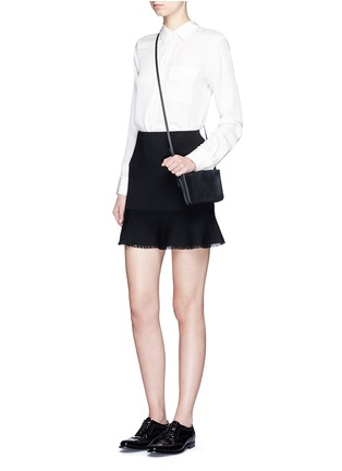 Figure View - Click To Enlarge - Theory - 'Belaya' fringed drop hem knit skirt