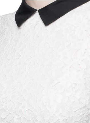 Detail View - Click To Enlarge - alice + olivia - 'Desra' floral lace combo collar dress