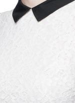'Desra' floral lace combo collar dress