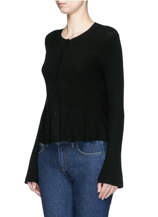 Front View - Click To Enlarge - Theory - 'Marlenia' rib knit cardigan