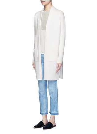 Front View - Click To Enlarge - Vince - Side slit wool-cashmere cardigan
