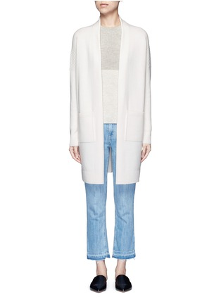 Main View - Click To Enlarge - Vince - Side slit wool-cashmere cardigan