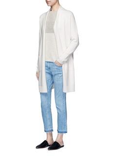 VINCESide slit wool-cashmere cardigan