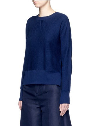 Front View - Click To Enlarge - Vince - Wool-silk waffle knit sweater