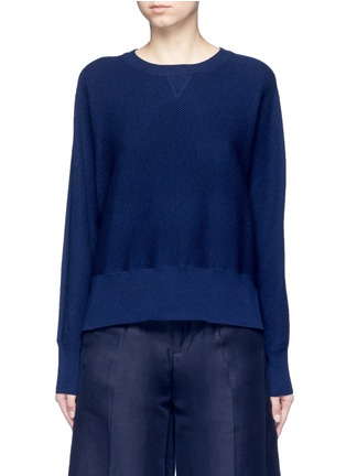 Main View - Click To Enlarge - Vince - Wool-silk waffle knit sweater
