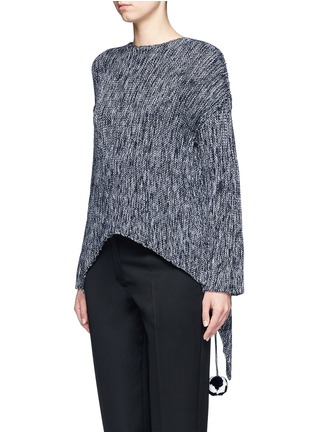 Front View - Click To Enlarge - Ports 1961 - Drawstring pompom open back sweater