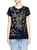 Astronaut cosmos print jersey T-shirt