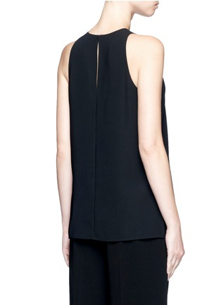 Back View - Click To Enlarge - Vince - Laser cut crepe tank top