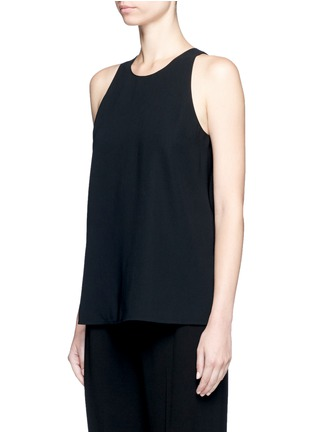 Front View - Click To Enlarge - Vince - Laser cut crepe tank top