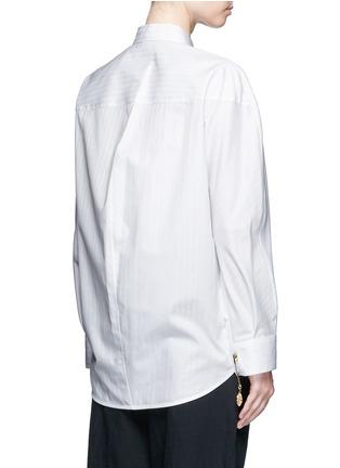Back View - Click To Enlarge - Balenciaga - Logo coin pin pinstripe poplin shirt