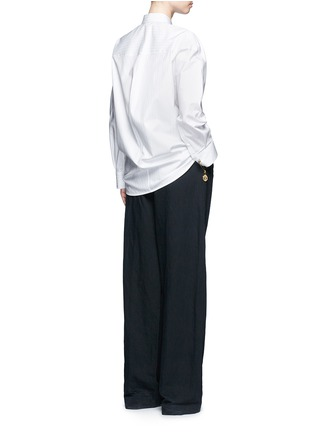 Figure View - Click To Enlarge - Balenciaga - Logo coin pin pinstripe poplin shirt