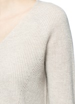 V-neck wool-cashmere ribbed sweater