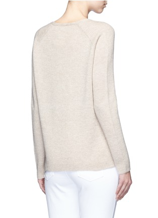 Back View - Click To Enlarge - Vince - V-neck wool-cashmere ribbed sweater