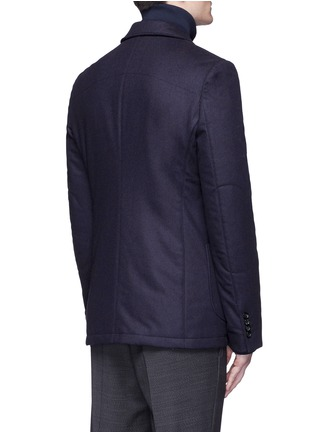 Back View - Click To Enlarge - Alexander McQueen - Embroidered skull badge wool felt blazer