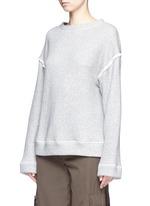 Heavy loop back terry oversized sweater