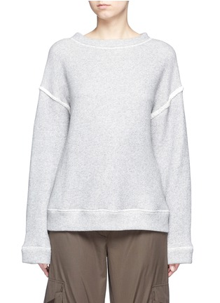 Main View - Click To Enlarge - Helmut Lang - Heavy loop back terry oversized sweater