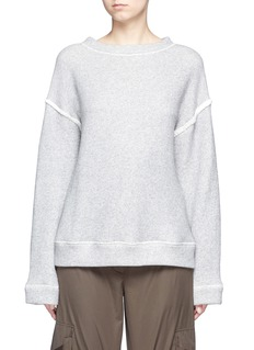 Helmut Lang Heavy loop back terry oversized sweater