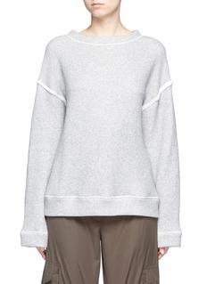 Helmut LangHeavy loop back terry oversized sweater