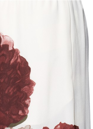 Detail View - Click To Enlarge - Valentino - Floral print silk pyjama pants