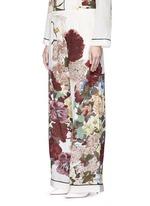 Floral print silk pyjama pants