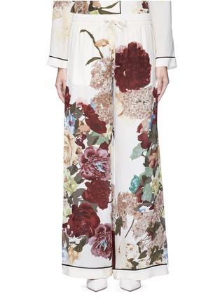 Main View - Click To Enlarge - Valentino - Floral print silk pyjama pants