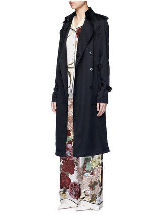 Figure View - Click To Enlarge - Valentino - Floral print silk pyjama pants