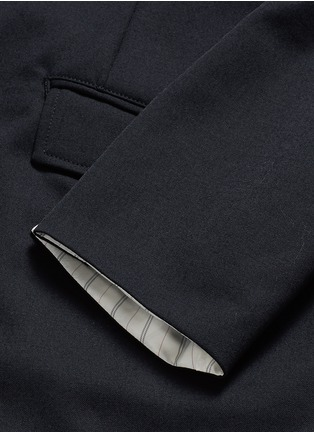 Detail View - Click To Enlarge - Sulvam - Back slit raw edge lining wool blazer