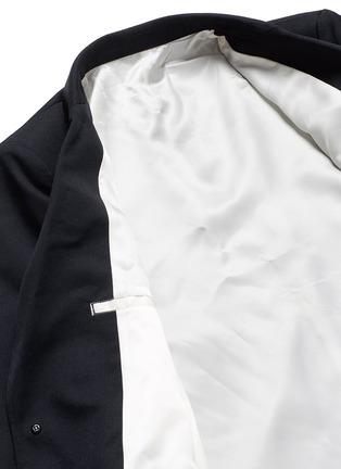 - Sulvam - Back slit raw edge lining wool blazer
