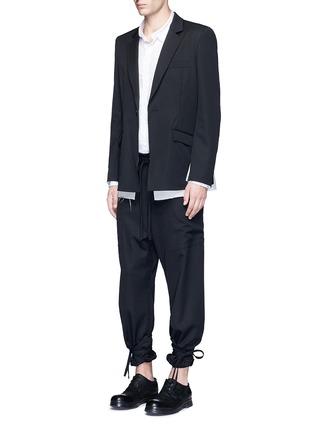模特儿示范图 - 点击放大 - SULVAM - 不修边羊毛西服外套