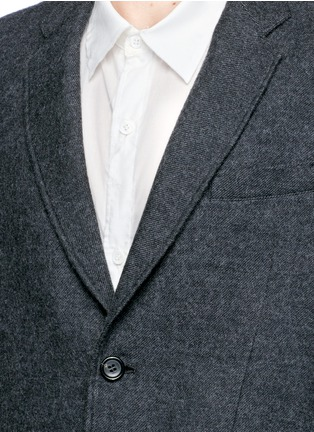 Detail View - Click To Enlarge - Sulvam - Side split raw edge lining wool coat