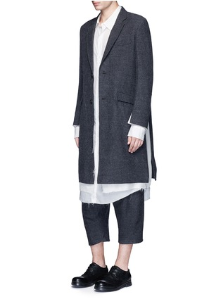 Figure View - Click To Enlarge - Sulvam - Brushed wool twill sarouel pants