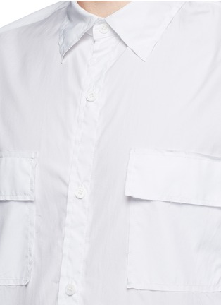 Detail View - Click To Enlarge - Sulvam - Flap pocket cotton shirt