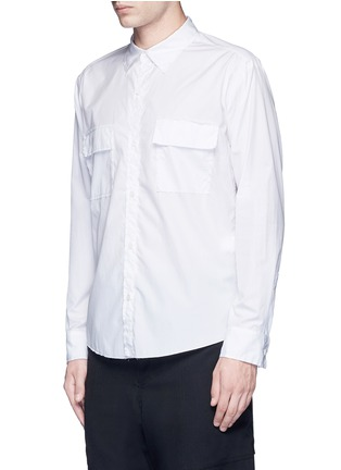 Front View - Click To Enlarge - Sulvam - Flap pocket cotton shirt