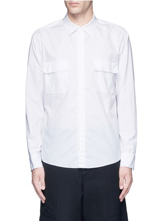 Main View - Click To Enlarge - Sulvam - Flap pocket cotton shirt